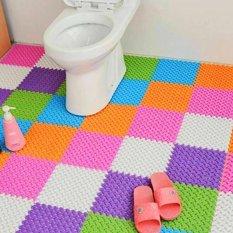 6pcs jointed antislip bathroom mat assembled feet design green - Bathroom Mats