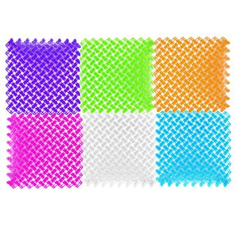 6pcs Jointed Anti-slip Bathroom Mat Assembled Feet Design(Multicolor) - 3