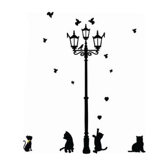 70x50cm Night Cat Wall Stickers