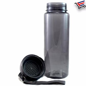 750ml Transparent Stundent Tumbler with Filter and Safety Lock(Black) - 5