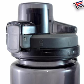 750ml Transparent Stundent Tumbler with Filter and Safety Lock(Black) - 3