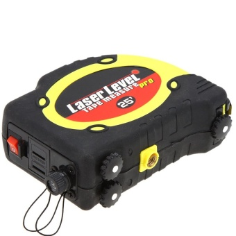 7.5m Measuring Tape Lasern Level Pro 3 Measuring Equipment with2Way Level Bubbles and Laser Power On/Off - intl - 2