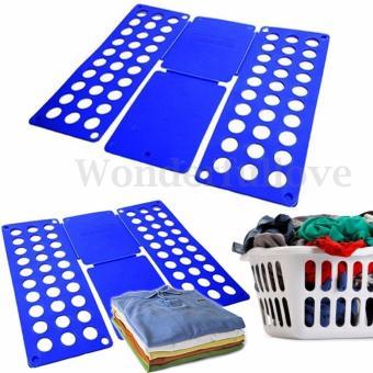 8 Colors Fashion Fashion Laundry Adult Child Magic Fast Speed Clothes Folder T shirt Fold Board Organizer - intl - 4