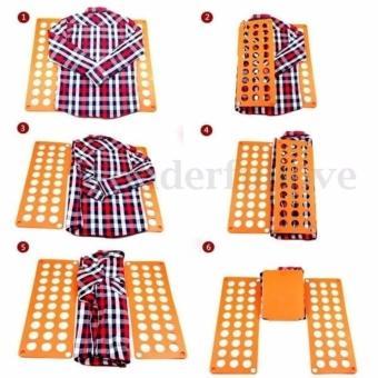 8 Colors Fashion Fashion Laundry Adult Child Magic Fast Speed Clothes Folder T shirt Fold Board Organizer - intl - 5