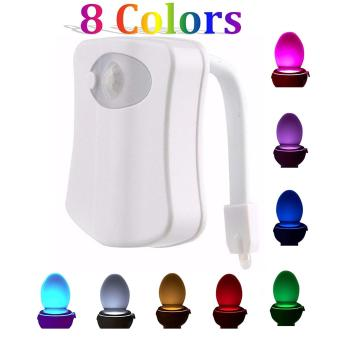 8 Colours Battery-operated Body Motion Sensor PIR Toilet LightSensor Toilet Seat LED Lamp Motion Activated Toilet Bowl NightLight - intl