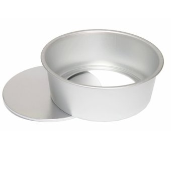 8 Inch Round Removable Bottom Anodized Aluminum Chocolate Cake Pan Tin Baking Mold Mould Silver