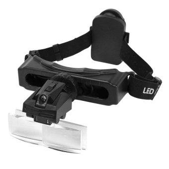 8 Lens Loop Headband Magnifier Watch Repair Jeweler LED Magnifying Glass Loupe (Intl)