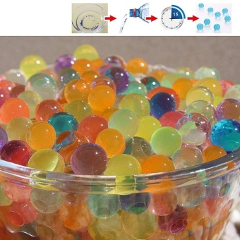 8000Pcs Water Beads, Crystal Water Bead Gel [Rainbow Mix] For Kids Tactile Sensory Experience, Orbeez refill, Wedding Centerpiece Vase Filler, Soil, Plant decoration - intl