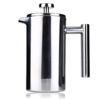 800ML Stainless Steel Cafetiere French Press with Filter Double Wall (SILVER)
