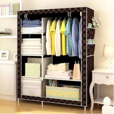 88105 Storage Wardrobe Clothes Organizer(Chocolate)