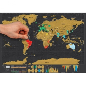 Where to buy 88x52cm deluxe travel scratch world map poster black 88x52cm deluxe travel scratch world map poster black gold intl 2 gumiabroncs Gallery