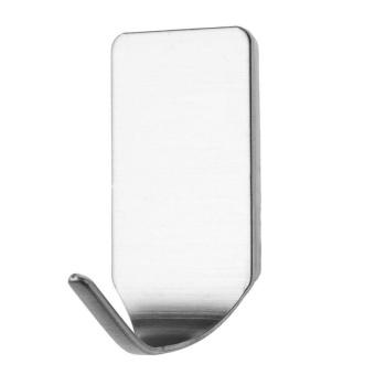 8pcs Self-Adhesive Wall Door Stainless Steel Stick Hanger Holder Hook 304 - intl Philippines