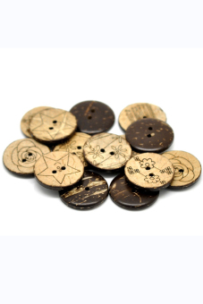 8YEARS B20389 Coconut Shell Buttons Set Of 30 (Brown)