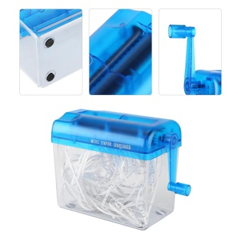 A6 Portable Mini Manual Paper Cut Shredder for Office Home School (blue) - intl - 3