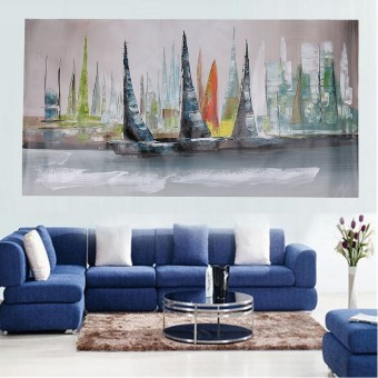 Abstract Large Wall Decor Modern Boat Oil Painting On Art Canvas (No Framed) - intl - 3