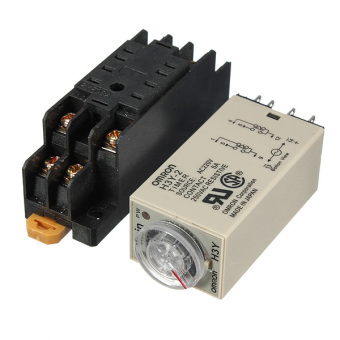 AC 220V H3Y-2 Power On Time Delay Relay Solid-State Timer 1.0~30Min DPDT Socket - Intl - 2