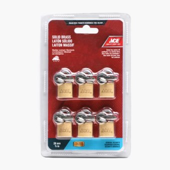 Ace Hardware 6-piece Solid Brass Padlock 20mm