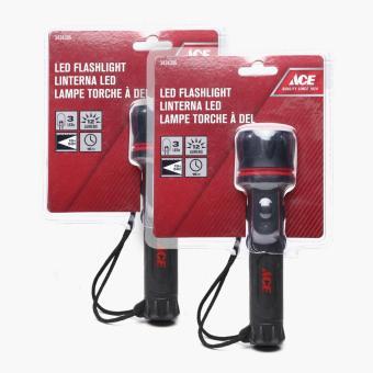 Ace Hardware LED Rubber Flashlight (Set of 2)