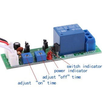 Adjustable Cycle Timer Delay On/Off Switch Relay Module(DC12V,0-24hr) - intl - 3