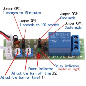 Adjustable Infinite Cycle Timer Delay On/Off Switch Relay Module (DC5V,0-60min) - intl - 4