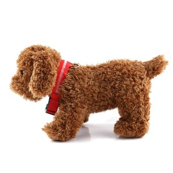 Adjustable USB Rechargeable LED Multicolor Pet Dog CollarFlashing(Red M) - intl - 2