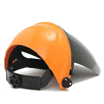 Adjustable Welding Helmet ARC TIG MIG Welder Lens Grinding Mask + Safety Goggles Orange Cover + PC Black Screen - intl - 5