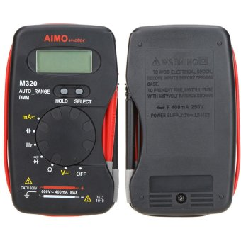 Aimo M320 Pocket Size Handheld LCD Digital Multimeter DMM Frequency Capacitance Measurement Data Hold Auto Range - 4