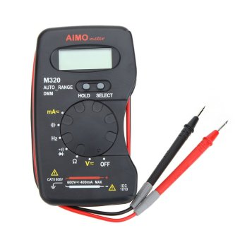 Aimo M320 Pocket Size Handheld LCD Digital Multimeter DMM Frequency Capacitance Measurement Data Hold Auto Range - 2