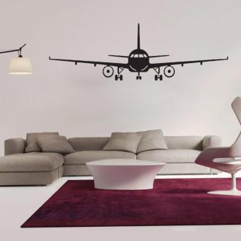 Airplane PVC Art Picture Decoration Wall Sticker Wallpaper(L) - intl - 2