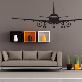 Airplane PVC Art Picture Decoration Wall Sticker Wallpaper(S) - intl