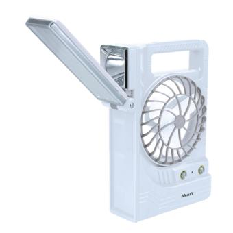 Akari ARF-5866S Rechargeable LED Solar Lantern + Mini Fan