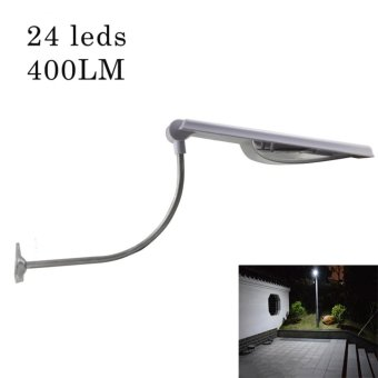 All In One Led Solar Street Lights Adjustable Angle 24 Leds Outdoor Sensor Light 400LM Led Garden Waterproof Solar Lamp Powered - intl