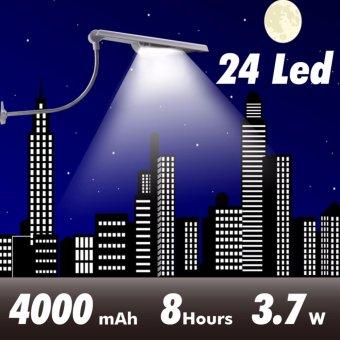 All In One Led Solar Street Lights Adjustable Angle 24 Leds Outdoor Sensor Light 400LM Led Garden Waterproof Solar Lamp Powered - intl - 2