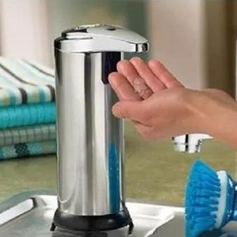 Allwin Stainless Steel Handsfree Automatic IR Sensor Touchless SoapLiquid Dispenser Silver