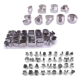 Alphabet Number Letter Cake Decorating Set Fondant Icing 37 Piece Cutter Mould - Intl