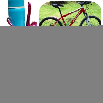 Aluminum Cycling Bike Bicycle Water Drink Bottle Mount Holder Rack Cage Adapter (Blue) - picture 2