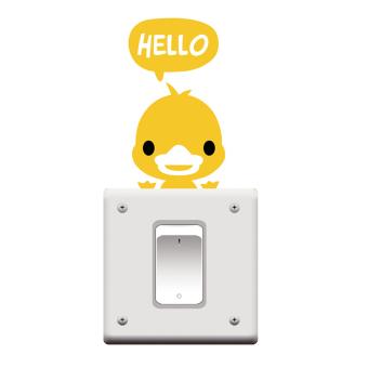 Amango Switch Sticker Hello Duck Removable Art Vinyl