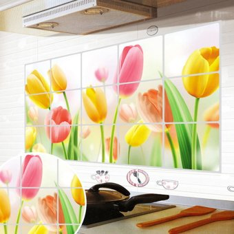 Amart Removable Tulip DIY Wall Sticker Decal Mural Kitchen Decoration - intl