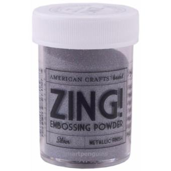 American Crafts Zing Embossing Powder - Silver Metallic Finish