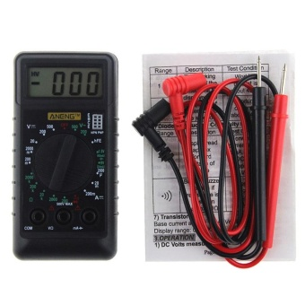 ANENG Mini Digital Multimeter With Buzzer Overload ProtectionPocket Voltage Ampere Ohm Meter DC AC LCD Portable - intl
