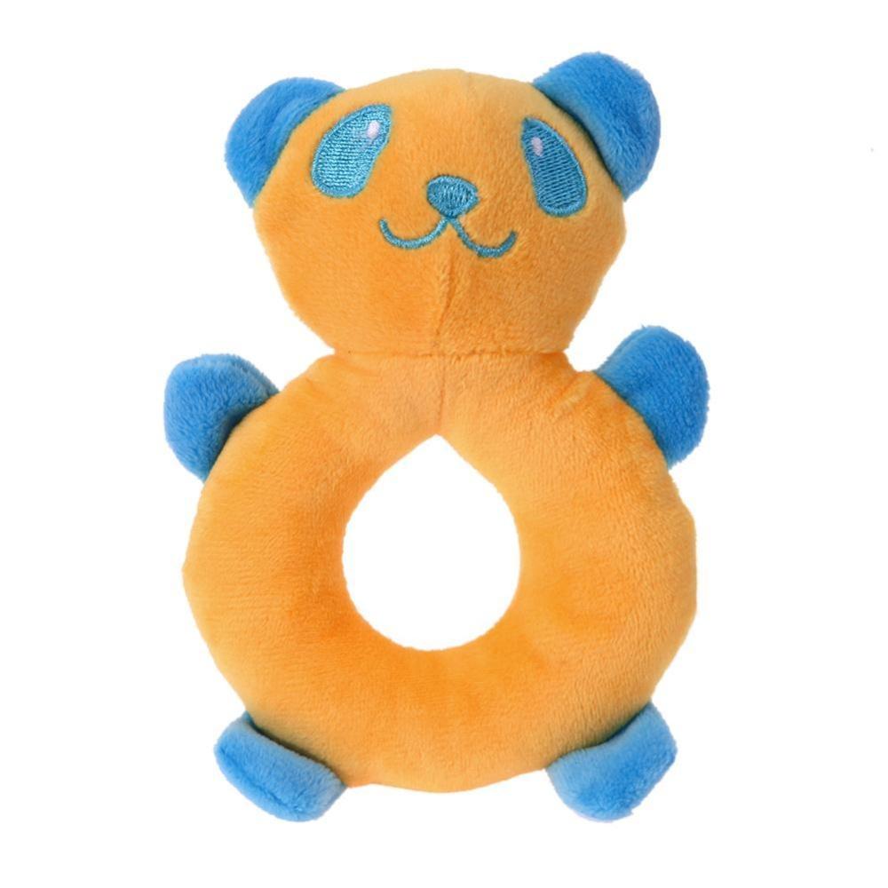... Animal Pattern Frisbee Pig Duck Pet Dog Toy Plush Cute ChewSqueaker Toy(Orange) ...
