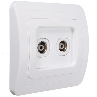 Ansee Two Outlets Wall Power Socket (White)