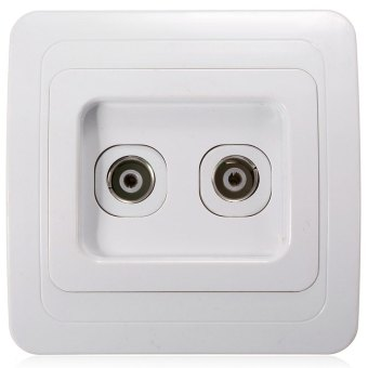 Ansee Two Outlets Wall Power Socket (White) - picture 2