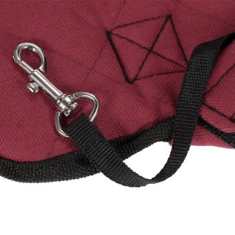 Anself Breathable Cute Canvas Pet Bag Puppy Dog Cat Carrier Head out Front Chest Backpack for Outdoor Travel Use M Size Canvas (Burgundy) - intl - 3