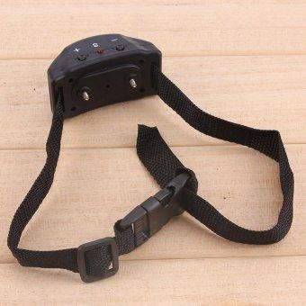 Anti Bark Pet Dog Training Collar Vibration Shock Electronic PetTrainer (Black) - intl - 3