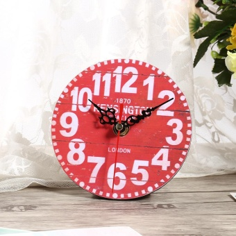 Antique Vintage Style Wooden Round Wall Clock (#5) - intl - 2