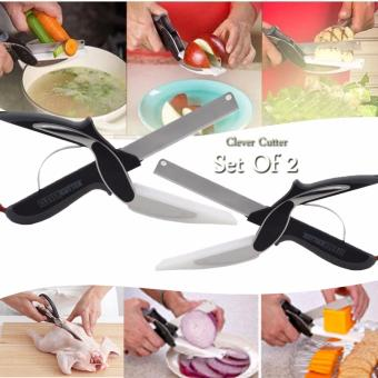 As Seen On TV Clever Cutter 2 in 1 Knife & Cutting Board Set of2