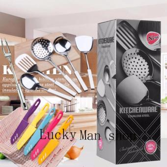 As Seen On TV Malaysia 11 in 1 Stainless Steel Kitchen Utensil andknife Set best gift - 2