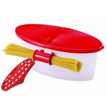 As Seen on TV Microwaveable Pasta Cooker/Strainer (Red) - 2