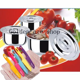 AS SEEN ON TV Stainless Steel 11 in 1 Stock Multifunction Pot and knife set